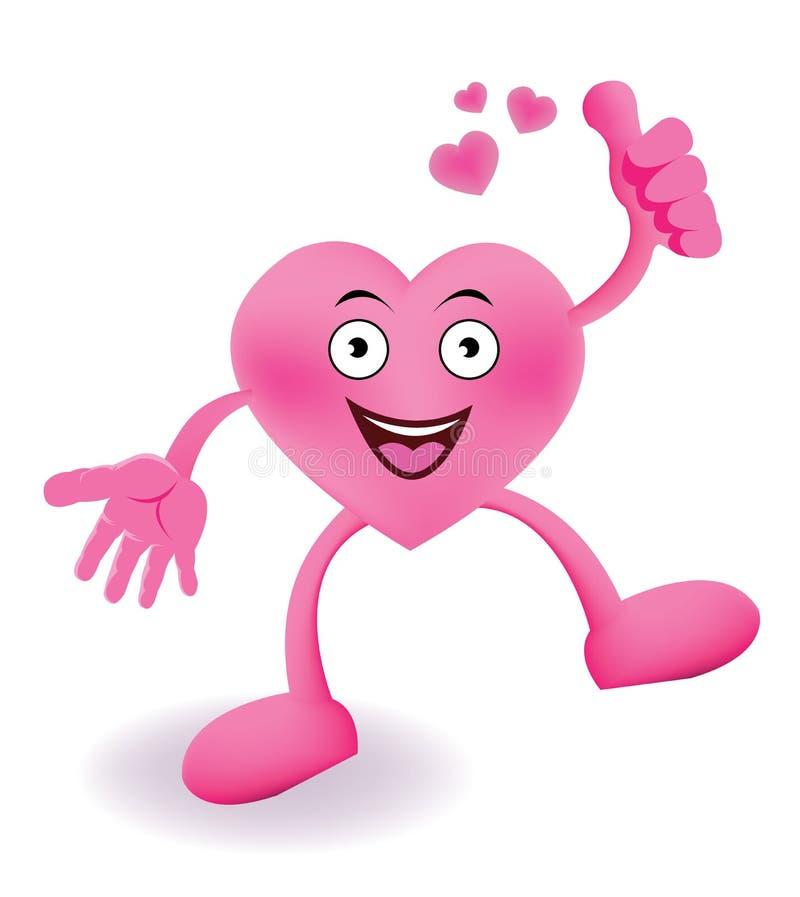Καρδιά χαμόγελου κινούμενων σχεδίων απεικόνιση αποθεμάτων