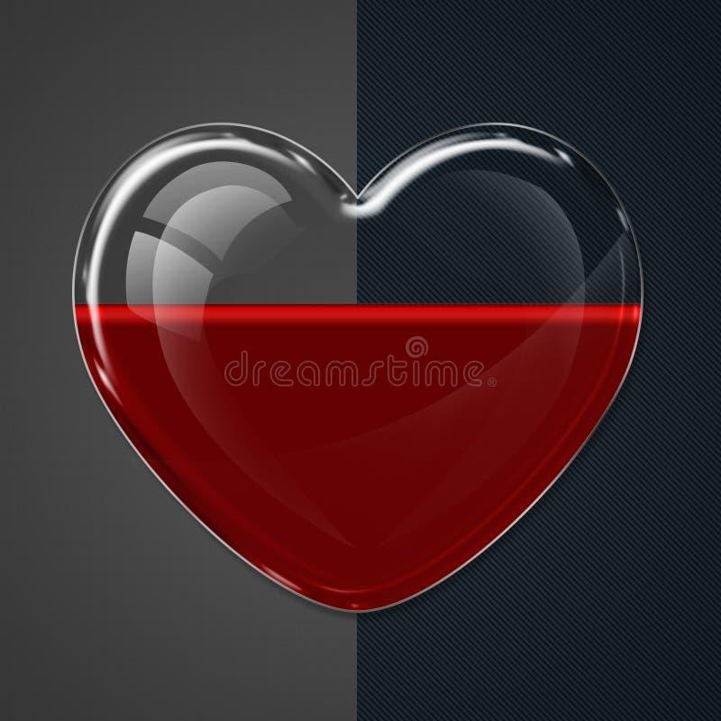 Καρδιά - δωρεά αίματος διανυσματική απεικόνιση