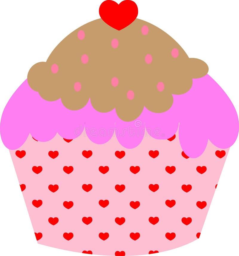 Καρδιά cupcake στοκ εικόνα