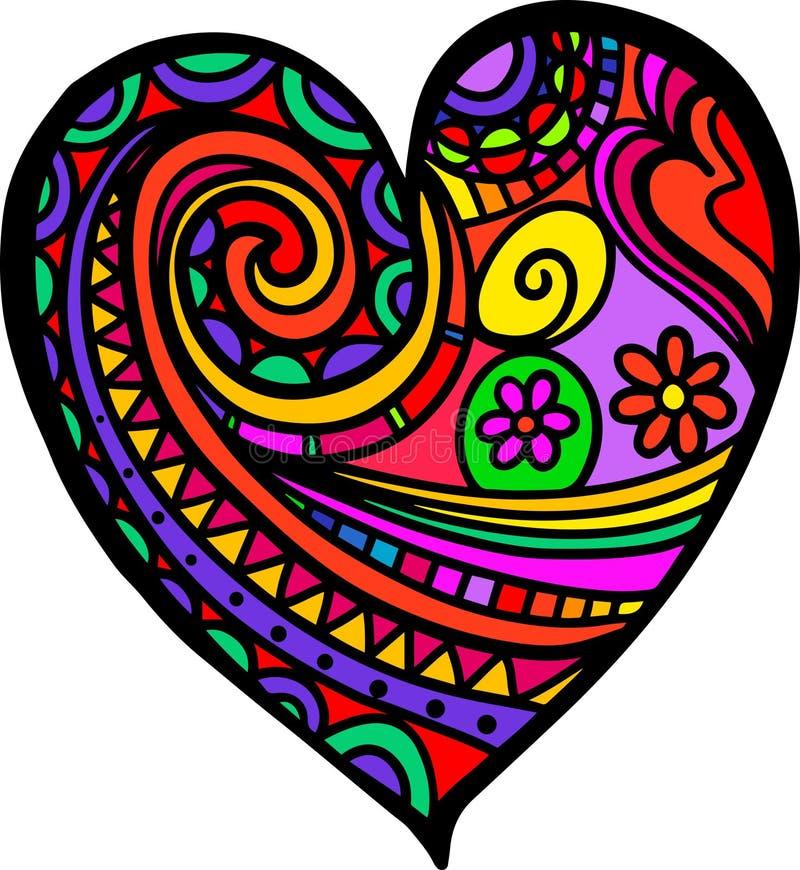 Καρδιά Doodle αγάπης διανυσματική απεικόνιση