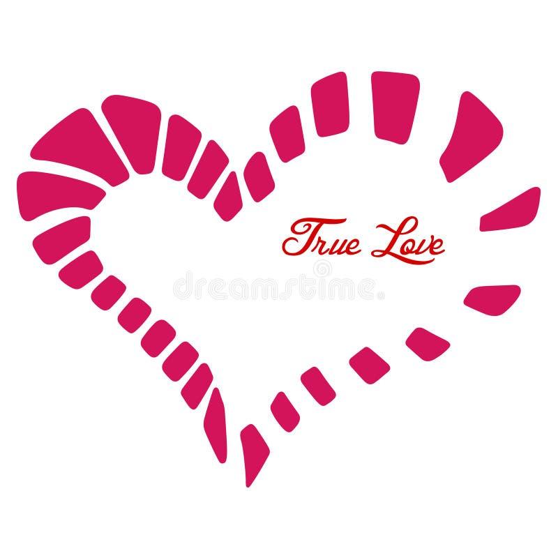 Καρδιά Fragmental. διανυσματική απεικόνιση