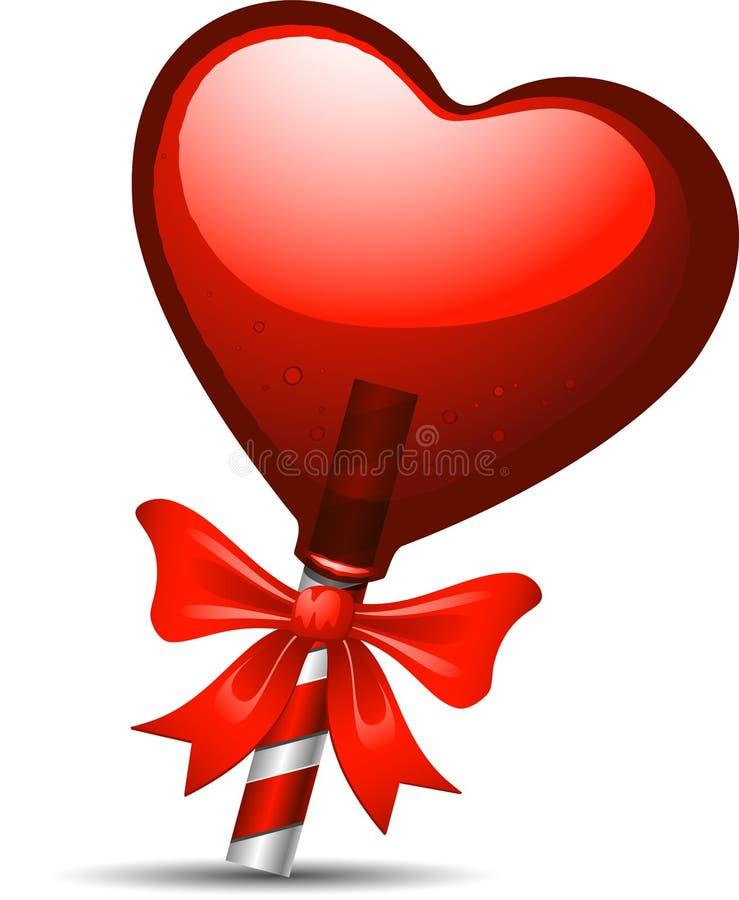 Καρδιά lollipop απεικόνιση αποθεμάτων