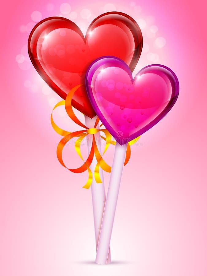 Καρδιά lollipops διανυσματική απεικόνιση