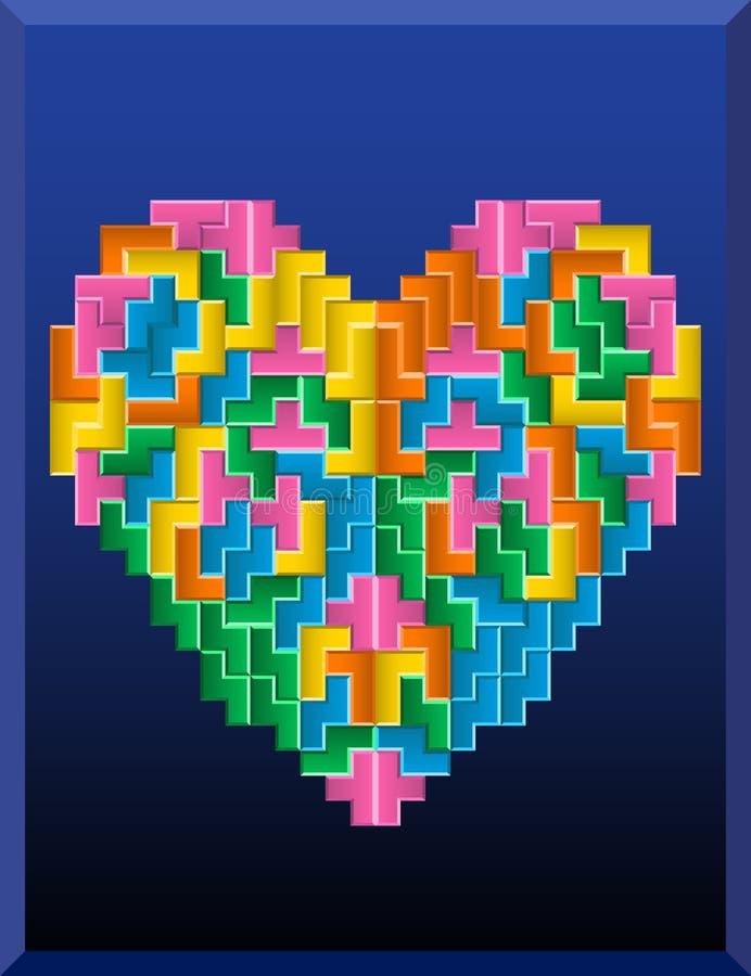 Καρδιά Tetris απεικόνιση αποθεμάτων