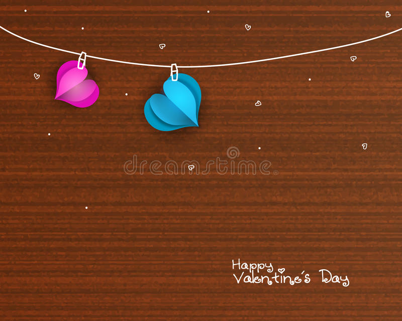Καρδιές για τον εορτασμό ημέρας βαλεντίνων ` s ελεύθερη απεικόνιση δικαιώματος