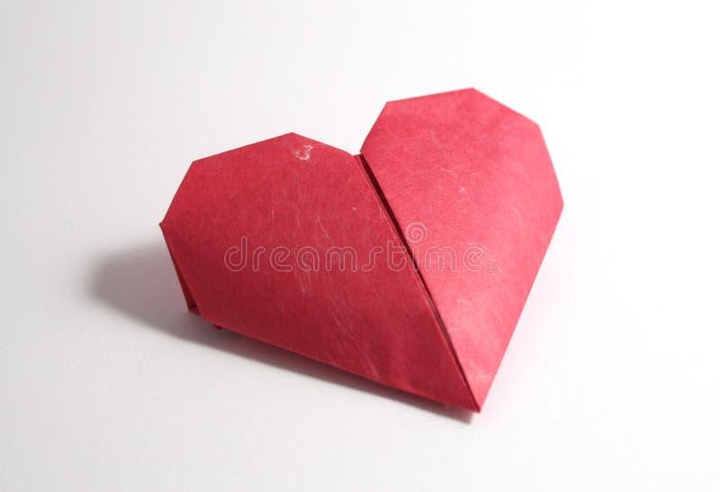 Καρδιές εγγράφου Origami στοκ φωτογραφία