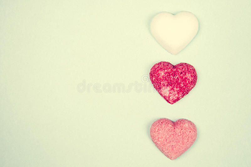 Καρδιές ζάχαρης στοκ φωτογραφία με δικαίωμα ελεύθερης χρήσης