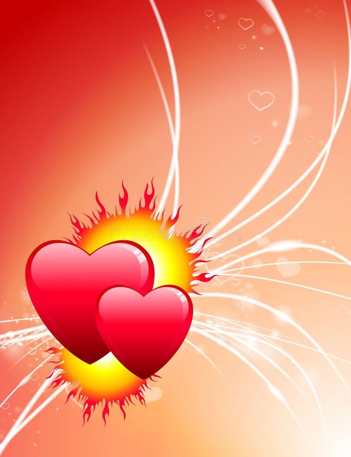 Καρδιές ημέρας βαλεντίνου στο αφηρημένο ελαφρύ υπόβαθρο ελεύθερη απεικόνιση δικαιώματος