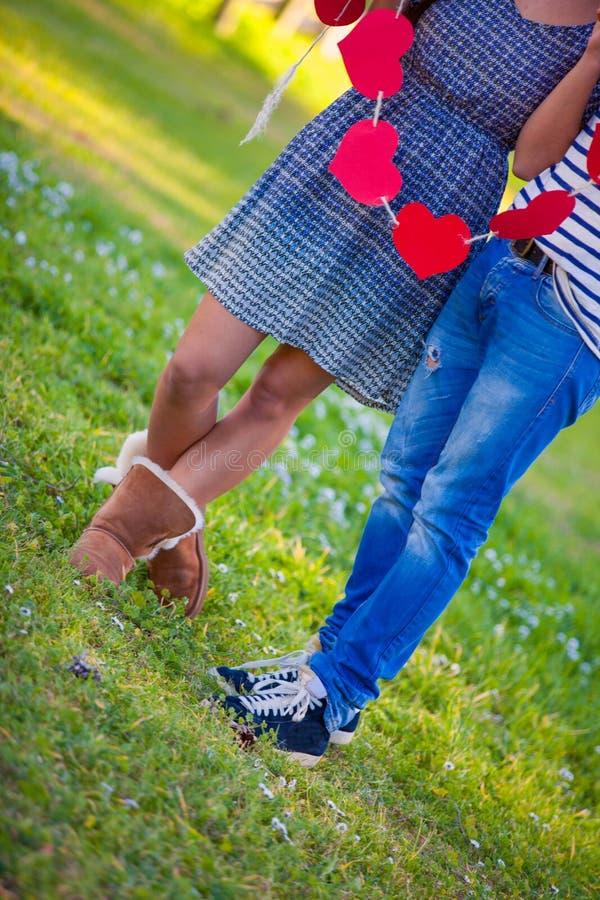 Καρδιές ημέρας βαλεντίνων για το ζεύγος βαλεντίνων στοκ φωτογραφίες