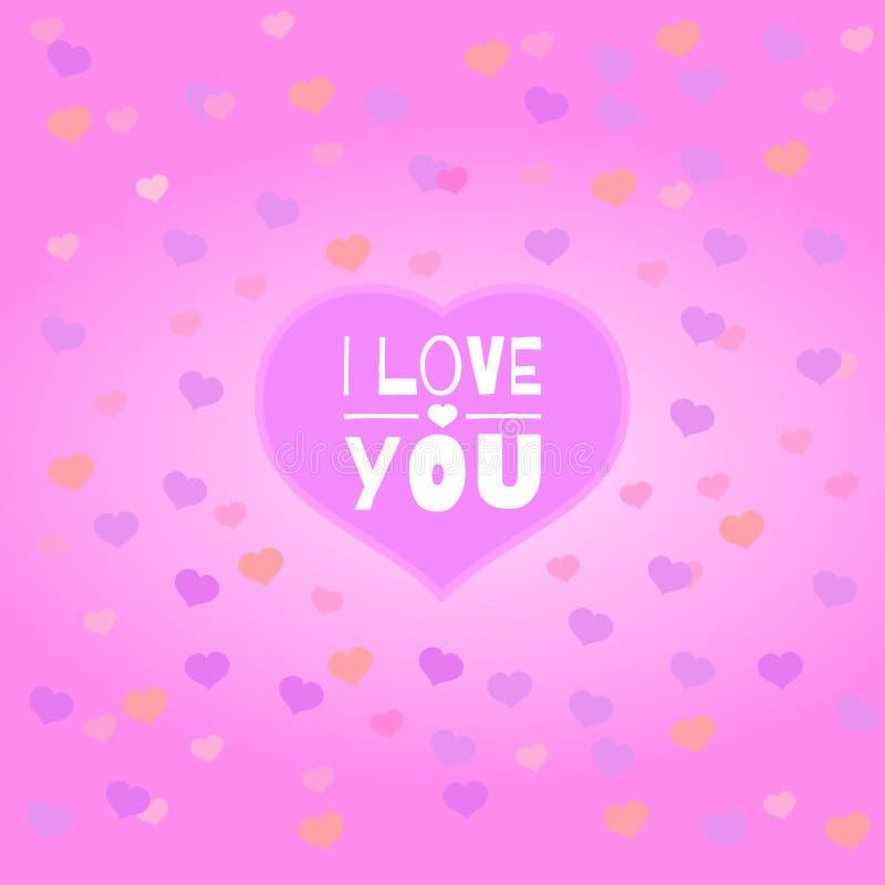 καρδιές ι κείμενο αγάπης εσείς στοκ φωτογραφία με δικαίωμα ελεύθερης χρήσης