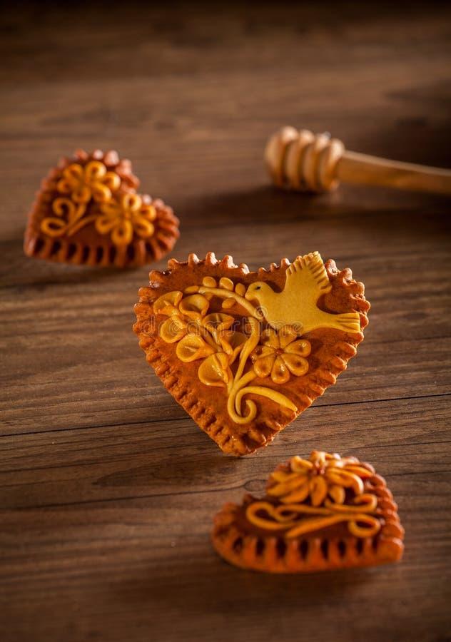 Καρδιές μελοψωμάτων στοκ εικόνα με δικαίωμα ελεύθερης χρήσης