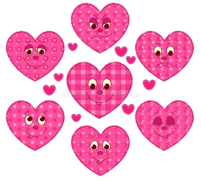 Καρδιές προσθηκών απεικόνιση αποθεμάτων