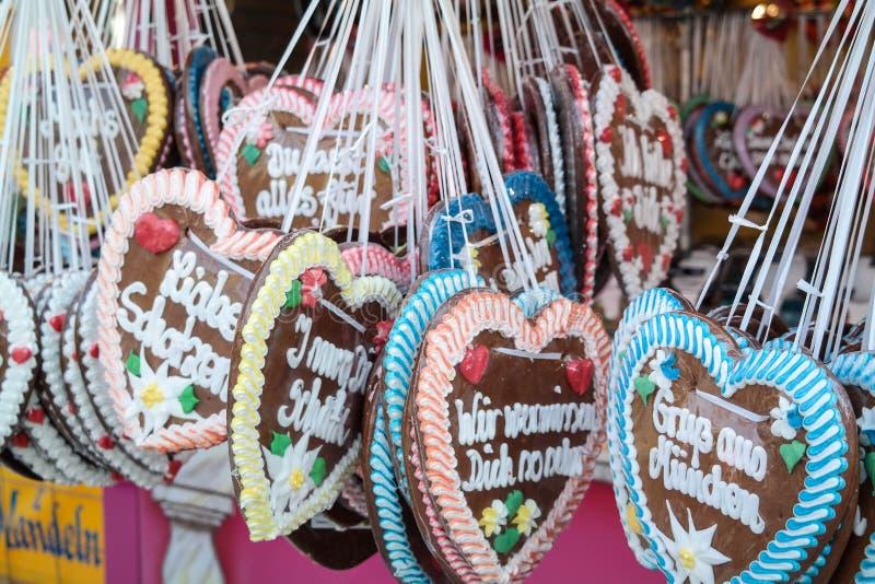 Καρδιές σε πιό oktoberfest στοκ φωτογραφίες