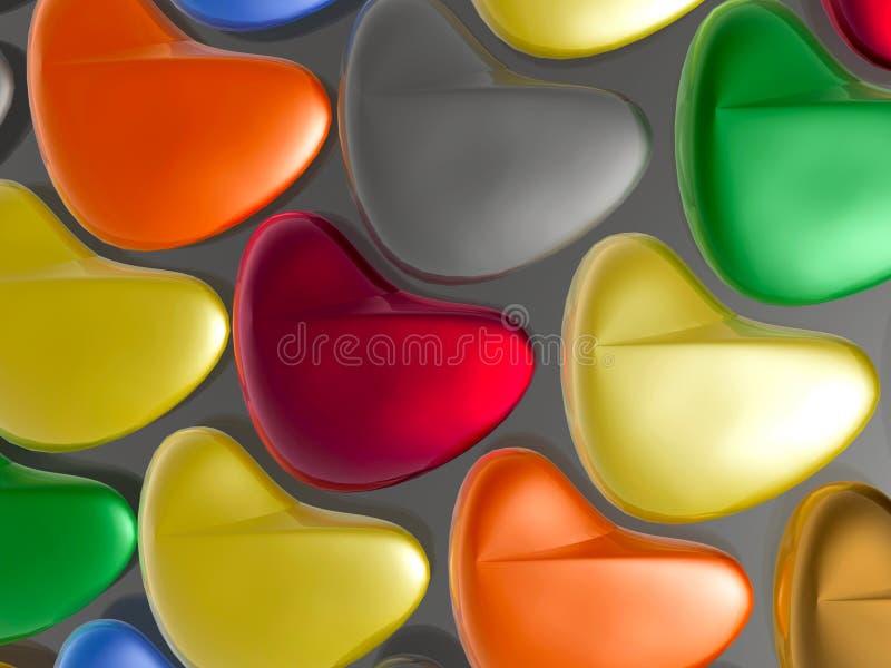 Καρδιές χρώματος διανυσματική απεικόνιση