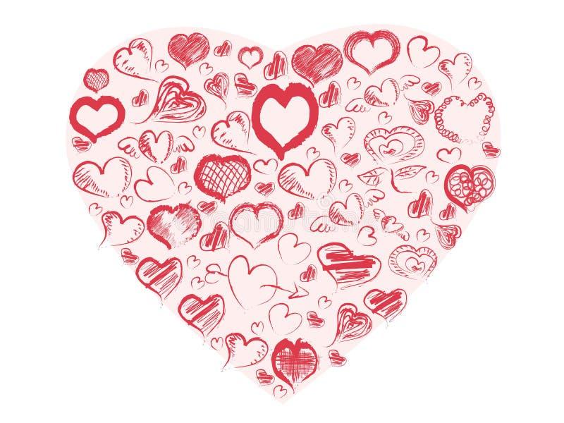Καρδιές Doodle απεικόνιση αποθεμάτων