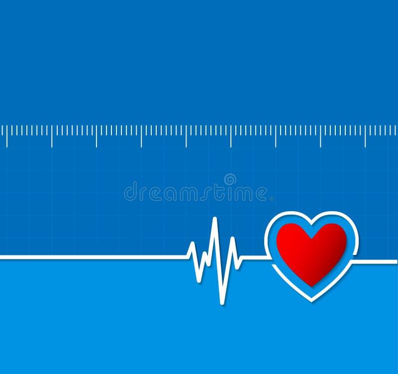 Καρδιογραφήματα Ιατρικός ρυθμός καρδιών κτυπήστε την καρδιά Backgrou καρδιολογίας απεικόνιση αποθεμάτων