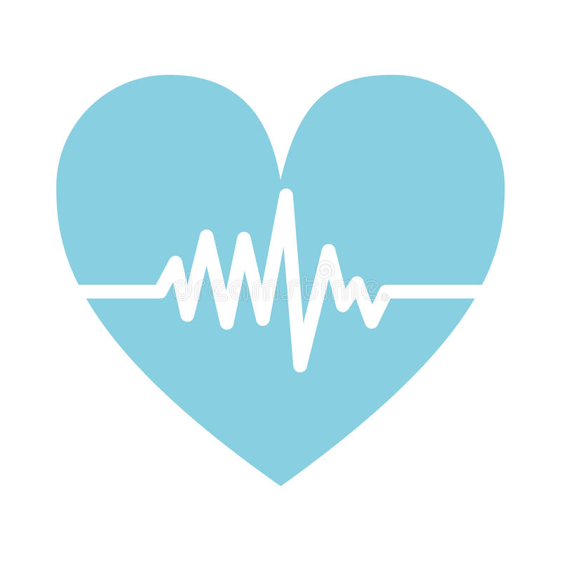 Καρδιο καρδιά σφυγμού διανυσματική απεικόνιση