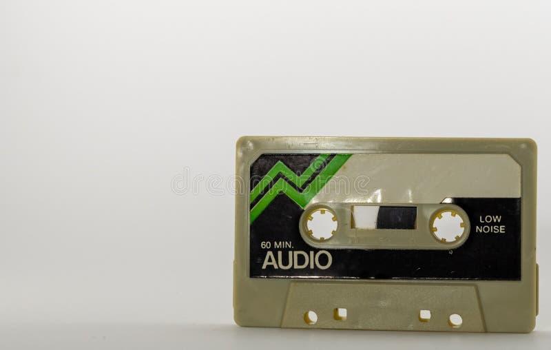 Κασέτα ήχου, αναδρομική κτυπημένη επάνω ταινία κασετών στοκ φωτογραφία