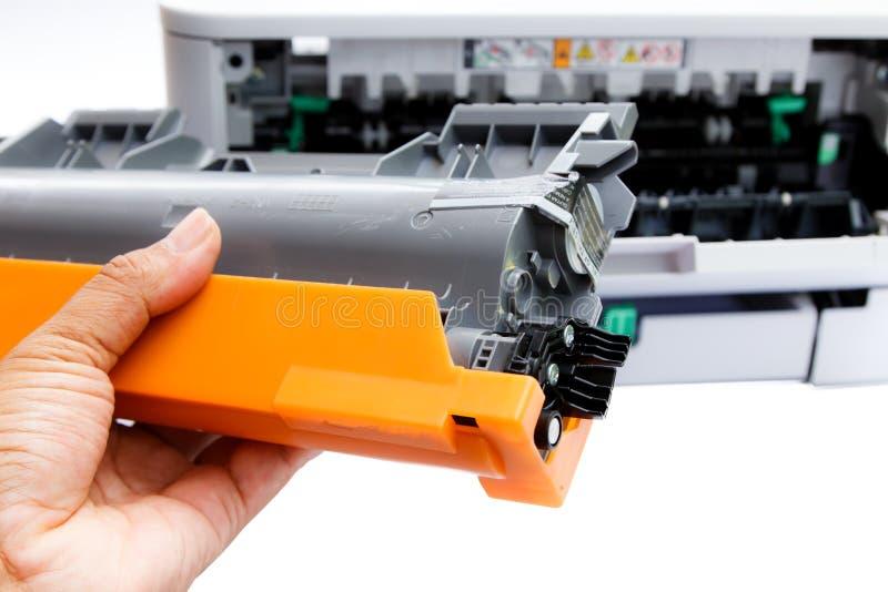 Κασέτα για τον εκτυπωτή λέιζερ στοκ φωτογραφία με δικαίωμα ελεύθερης χρήσης