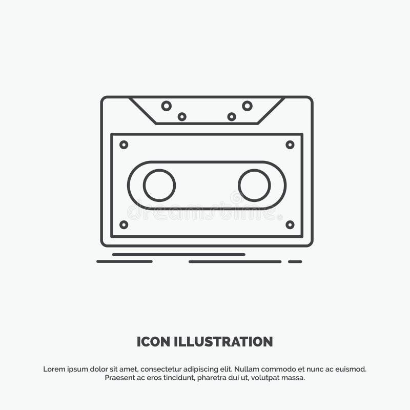 Κασέτα, επίδειξη, αρχείο, ταινία, εικονίδιο αρχείων r διανυσματική απεικόνιση
