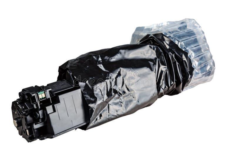 Κασέτα στη μαύρη συσκευασία στοκ εικόνες