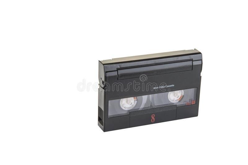κασέτα σχήματος 8mm τηλεοπτική στο άσπρο υπόβαθρο στοκ εικόνες