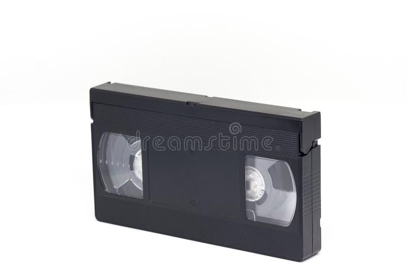 Κασέτα τηλεοπτικών ταινιών VHS που απομονώνεται στο άσπρο υπόβαθρο, στοκ φωτογραφία