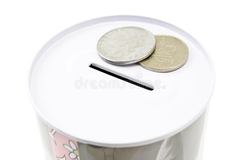 κασσίτερος χρημάτων νομι&sig στοκ εικόνα με δικαίωμα ελεύθερης χρήσης