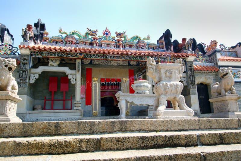 Κασσίτερος Hau Mazu, ναός θεών θάλασσας - Cheung Chau - Χονγκ Κονγκ στοκ εικόνα με δικαίωμα ελεύθερης χρήσης