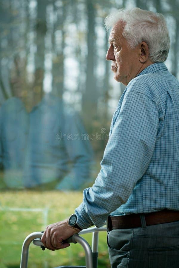 Κατάθλιψη στη μεγάλη ηλικία στοκ φωτογραφίες