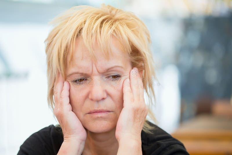 Κατάθλιψη στις γυναίκες στοκ φωτογραφίες
