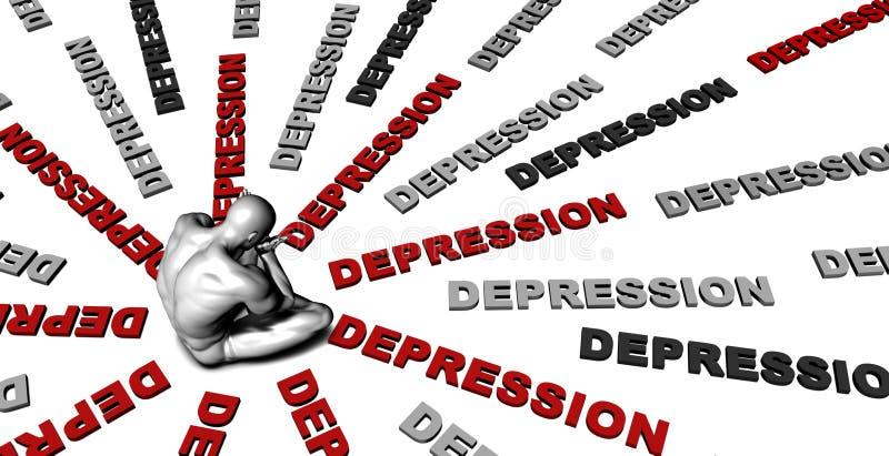 Κατάθλιψη ελεύθερη απεικόνιση δικαιώματος