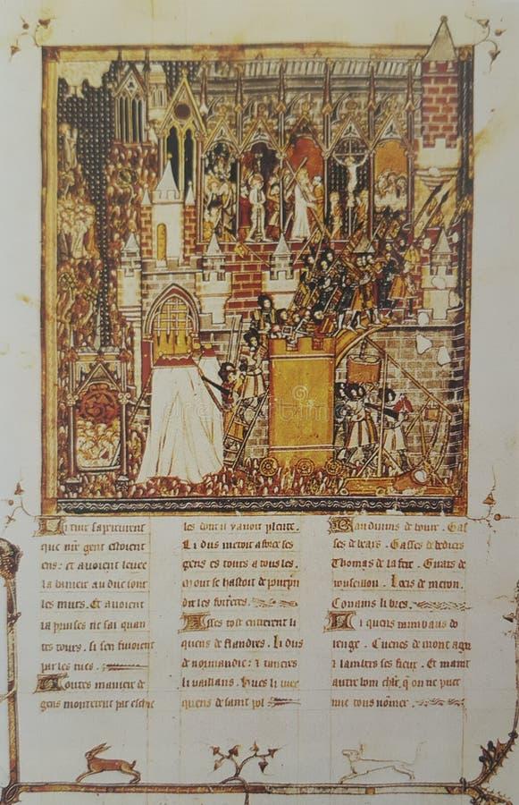 Κατάκτηση της Ιερουσαλήμ στην πρώτη σταυροφορία, 1099 στοκ φωτογραφίες με δικαίωμα ελεύθερης χρήσης