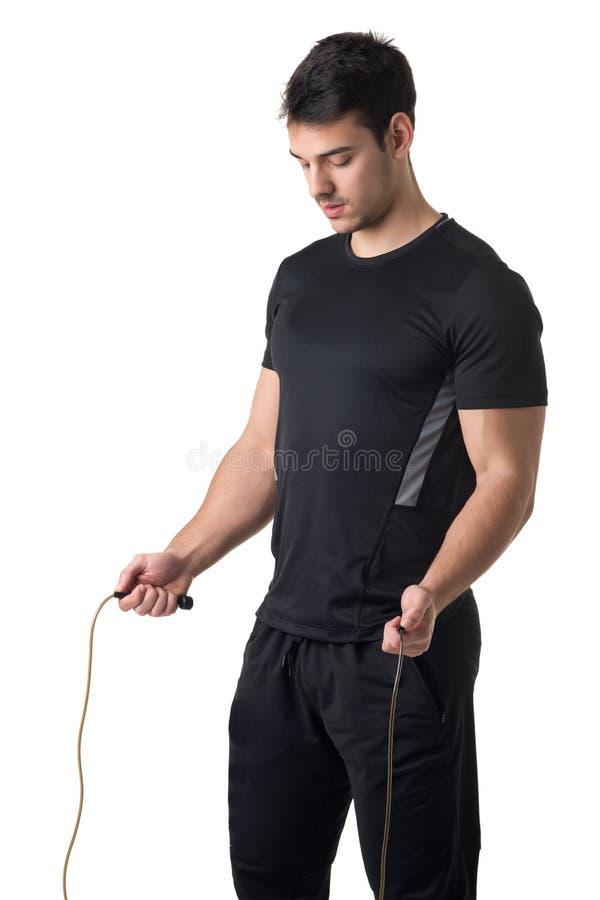 Κατάλληλο αρσενικό σχοινί άλματος στοκ φωτογραφία με δικαίωμα ελεύθερης χρήσης