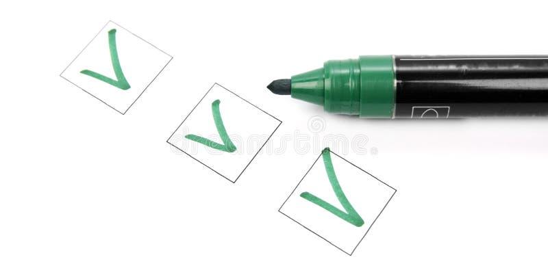 κατάλογος ελέγχου στοκ εικόνα με δικαίωμα ελεύθερης χρήσης