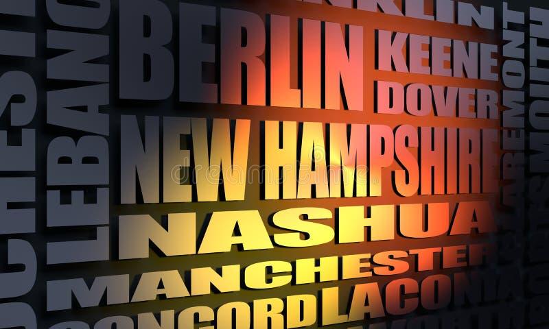 Κατάλογος κρατικών πόλεων του Νιού Χάμσαιρ ελεύθερη απεικόνιση δικαιώματος