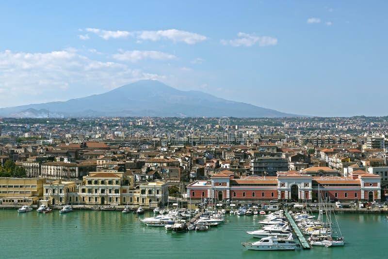 Κατάνια, Σικελία Ιταλία στοκ εικόνα με δικαίωμα ελεύθερης χρήσης