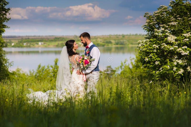 Κατάπληξη ακριβώς του παντρεμένου ζευγαριού στοκ φωτογραφία με δικαίωμα ελεύθερης χρήσης