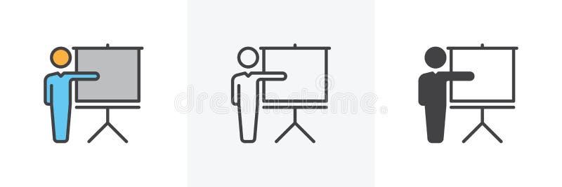 Κατάρτιση, εικονίδιο διασκέψεων απεικόνιση αποθεμάτων