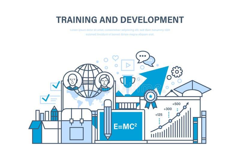 Κατάρτιση και ανάπτυξη, από απόσταση εκμάθηση, τεχνολογία, γνώση, διδασκαλία και έρευνα απεικόνιση αποθεμάτων