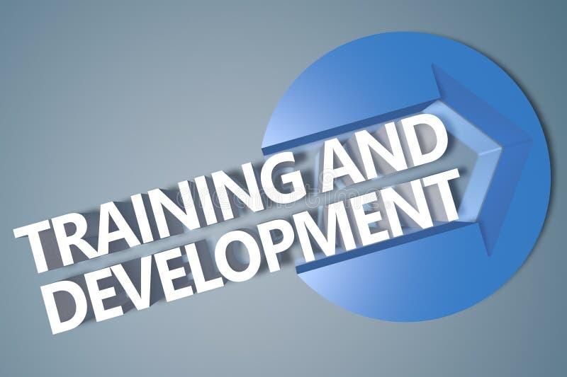 Κατάρτιση και ανάπτυξη διανυσματική απεικόνιση