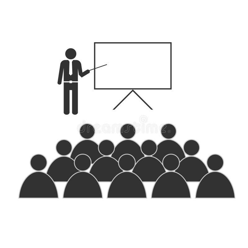 Κατάρτιση με την απεικόνιση εικονιδίων ανθρώπων στο λευκό απεικόνιση αποθεμάτων