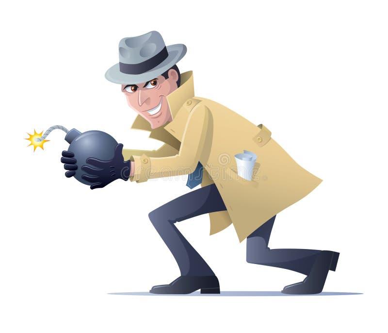 Κατάσκοπος για να πυροδοτήσει περίπου μια βόμβα ελεύθερη απεικόνιση δικαιώματος