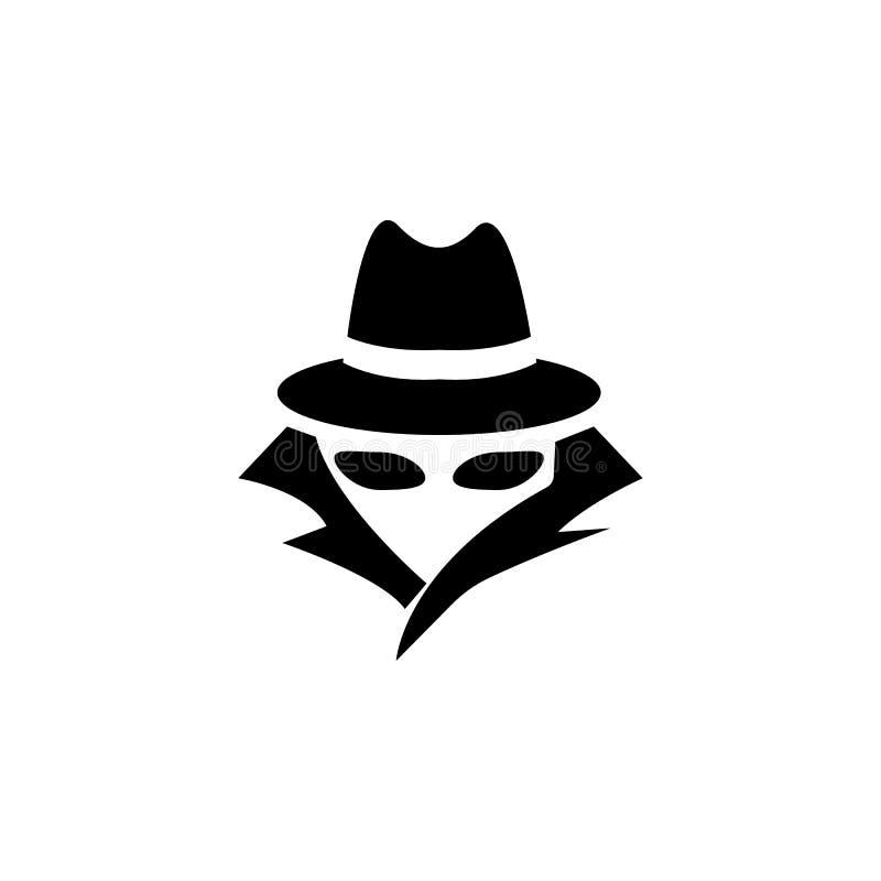 Κατάσκοπος, εικονίδιο πρακτόρων Στοιχεία του εικονιδίου ασφάλειας cyber Γραφικό σχέδιο εξαιρετικής ποιότητας Σημάδια, εικονίδιο σ διανυσματική απεικόνιση