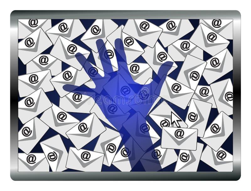 Κατάσκοπος ηλεκτρονικού ταχυδρομείου διανυσματική απεικόνιση
