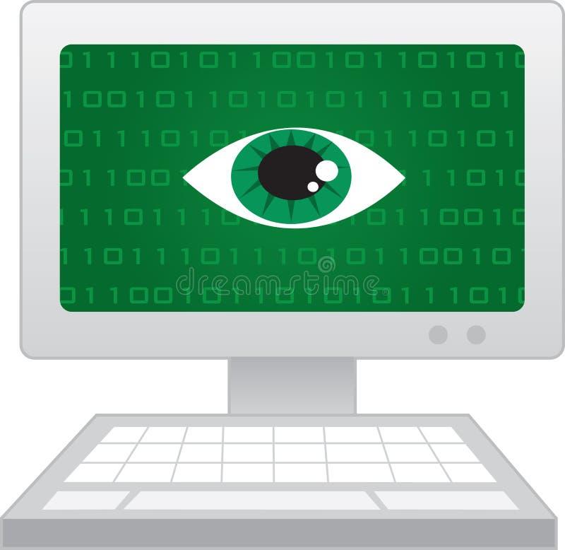 Κατάσκοπος ματιών οθονών υπολογιστή απεικόνιση αποθεμάτων