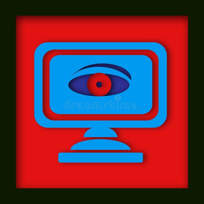 κατάσκοπος μηνυτόρων ματ&iot ελεύθερη απεικόνιση δικαιώματος