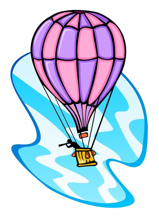 Κατάσκοπος σε ένα μπαλόνι που συλλέγει τη νοημοσύνη ελεύθερη απεικόνιση δικαιώματος