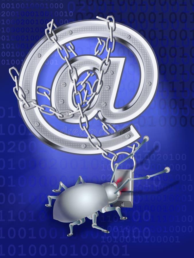 κατάσκοπος ταχυδρομεί&omi διανυσματική απεικόνιση
