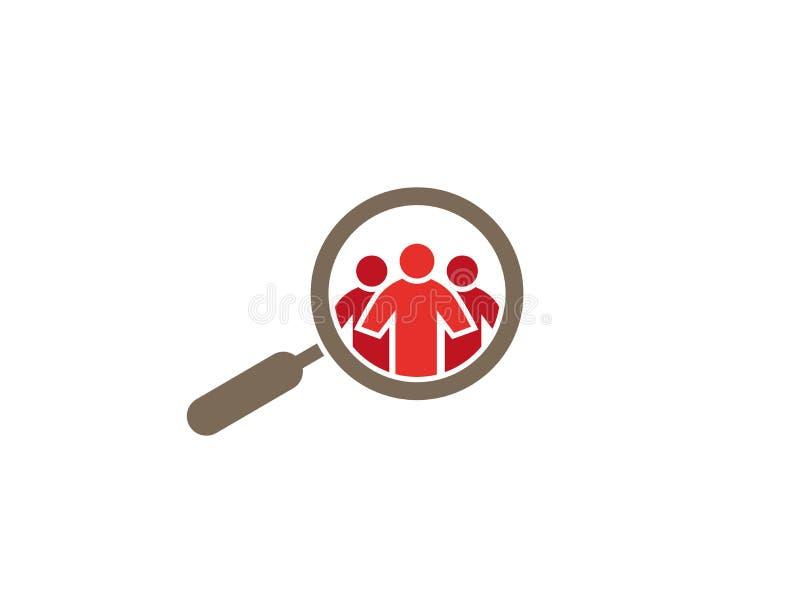 Κατάσκοπος Loupe σε Peaple για το λογότυπο απεικόνιση αποθεμάτων